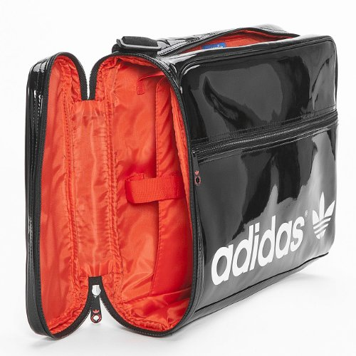 Adidas Adicolor Airliner Borsa a tracolla Black/hi-Res Red F13/Running White
