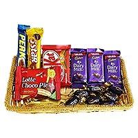 SFU E Com Chocolate Basket Hamper   Premium Chocolate Gift   Gift for Birthday, Anniversary, Holi, Rakhi, Diwali