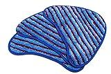 Lot de 3 Lingettes de Rechange Microfibres Texture Rugueuse (Couleur Bleue Rayures) pour les Balais vapeur Vax (Type 6) (Alternative à 1-1-132319-00) Produit Authentique de Green Label