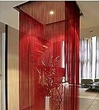 Verlängern sie die dicken vorhänge,Niedliche streifen quaste für hochzeit kaffee restaurant hausteile Dekorative tür zeichenfolge vorhang perlen Roten-D