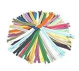 sunreek 20colores 60pcs Mix Bobina de nylon cremalleras sastre costura Craft 9Inch Crafter 's Especial, 20colores
