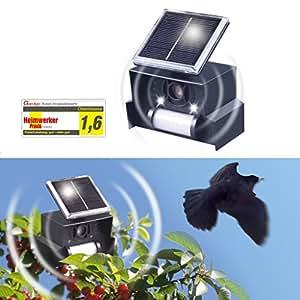 Gardigo pouvantail ultrason anti oiseau solaire r pulsif - Repulsif oiseaux ultrason ...