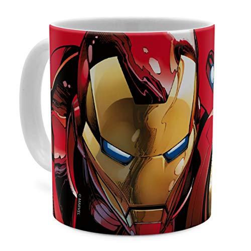 PhotoFancy Tasse Marvel mit Namen personalisiert - Design Avengers Assemble Iron Man