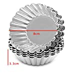 Prime Enterprises Aluminium Cup Cake Tart Moulds for Oven- Set of 6 Pieces