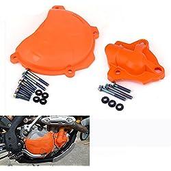 JFG RACING - Juego de Funda para Bomba de Agua + Funda Protectora de Embrague para KTM 250 350 SXF EXCF XC-F250 SX-F-F2013-2015 250 EXC-F2014-2015 350 SX-F2011-2015