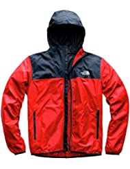The North Face Cyclone 2, Felpa con Cappuccio Uomo, Rosso (Fiery Red/Urban Navy), XL