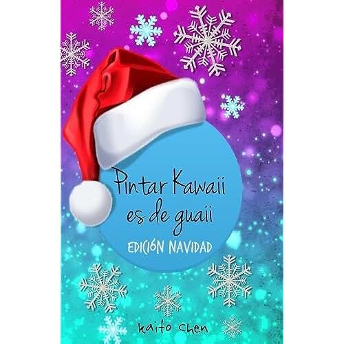 dia del libro kawaii Pintar Kawaii es de Guaii Edicion Navidad: Libro para colorear niños