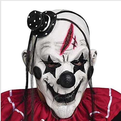 Docakaicn Halloween-Maske Ist Geeignet Für Die Meisten Menschen Größe Vollgesichts Latex Material Dauerhafte Tanzparty Rolle Spielen Horror Realistisch Usw. (Männer und Frauen) (Maske-4)