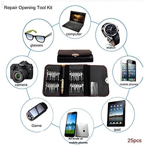 Baban 25 in 1 Werkzeug Set 1pcs Schraubendreher + 24pcs Schraubenzieher Bitsatz Handwerkzeuge Repair Tool für iPhone Computer Handy Kamera Brillen Uhren