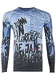 Cipo & Baxx Herren Sweatshirt Langarmshirt CL202 (M, blau)