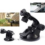 XCSOURCE® Support à ventouse Noir + Adaptateur Trépied pour Gopro HD Hero 4 3+ 3 2 1 Caméra OS017