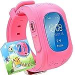 Uhr für Kinder,TURNMEON® intelligent uhr mit GPS WIFI Anti-lost Tracker Smart watch Handy mit SIM SOS Armband für Smartphone (Rosa)