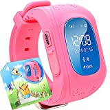Uhr für Kinder,TURNMEON intelligent uhr mit GPS WIFI Anti-lost Tracker Smart watch Handy mit SIM SOS Armband für Smartphone (Rosa)