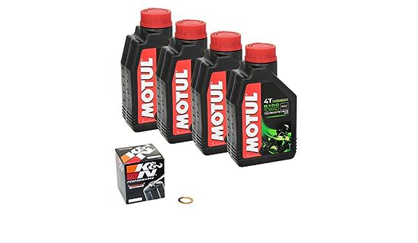 Motul 5100 10w 40 Ölwechsel Set Suzuki Bandit 650 Gsf 650 Bj 05 12 Motoröl K N Ölfilter Und Dichtring Auto