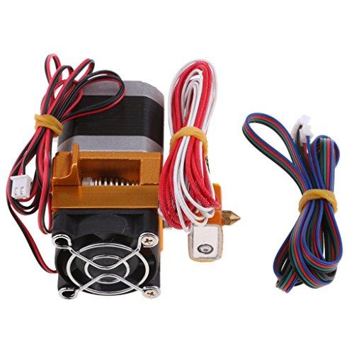 perfk Extruderdüse 0.4mm Druckkopf MK8 Düse Ersatzteil mit Kabel für Prusa I3 3d Drucker
