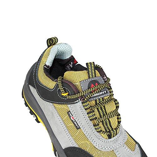 Aimont zebra s1P chaussures de travail chaussures chaussures berufsschuhe businessschuhe plate Gris - Gris