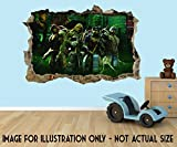 Teenage Mutant Ninja Turtles Tmnt 3D Effekt Loch in Wand Vinyl Aufkleber–geeignet für Wände, Türen und Fenstern., plastik, Extra Large 80 x 52 cm