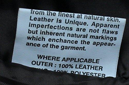Herren Echtlederjacke Biker Stil Reißverschluss Taschen Braun