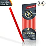 [SPECIAL EDITION] Ersatzminen für radierbare Kugelschreiber - kompatibel zu Pilot Frixion Tintenroller - 100% prall gefüllte Minen, Strichstärke 0,7, edles rot [10 Stück] + Überraschung in jedem Paket