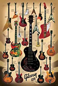 "J-4327 Guitars Gibson Collection Poster#4 Size 24""x35""inch. Rare New - Image Print Phot"