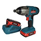 24v Li-Ion Cordless Battery Impact Wrench Gun 1/2'' Drive With 2 Twin Lithium