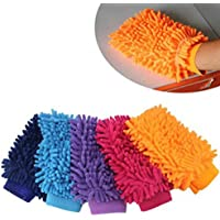iiniim 1pc morbido in microfibra ciniglia lavaggio guanto pulizia per auto finestra (colore casuale)