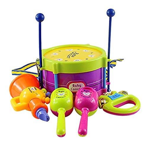 sanwood-children-kids-roll-drum-musical-instruments-toys-5-in-1-set-random-color