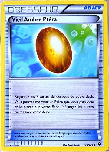 carte Pokémon 106/124 Vieil Ambre Ptéra XY - Impact des Destins