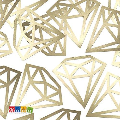 12pz coriandoli diamond oro confetti diamante dorati nozze d'oro anniversario