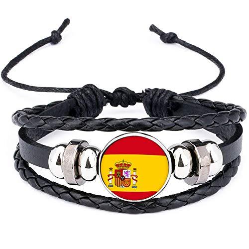 Mxdmai 2018 España Bandera Nacional Encanto Pulsera