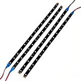LED Strip Lights, Minkoll LED flexibles Licht f¨¹r Auto Moto Truck, DC 12V 15 LEDs, wasserdicht und blaues Licht, 5 Stck