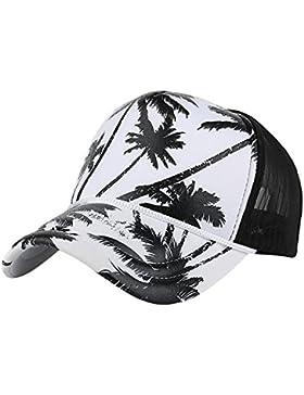 Kukul Impresión del árbol de coco Gorra de beisbol Sombrero plano de Hip Hop del Snapback Deporte Sombreros