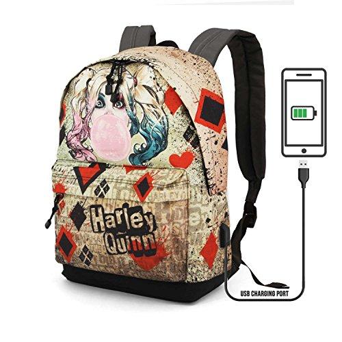 Karactermania Harley Quinn Mad Love-HS Backpack Rucksack, 44 cm, 23 liters, Beige