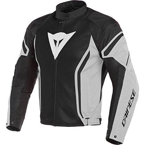 Dainese Air Crono 2 textil para moto chaqueta negro/glaciar gris/negro