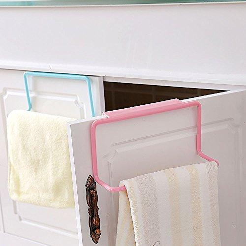 ?Neue tragbare Plastik über Tür Kleiderbügel Handtuch hängen Halter Aufhänger Küche Rack 4 Farben Rosa