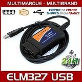 Mister Diagnostic® Diagnose Interface Mehrmarken, ELM327USB V1.5OBDII Software in FR ELM 327