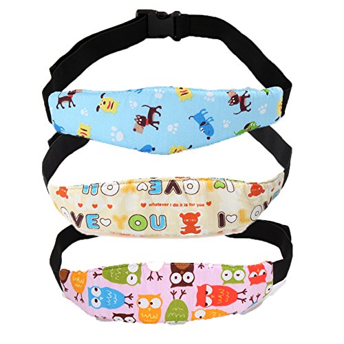Z-Chen 3er Pack Baby Nackenstütze Kopfstütze für Auto Kindersitze Sicherheitsgurt für Fahrrad Reise Kinderwagen, Set 1