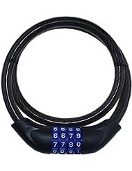 Ecolle bicicleta Candado Número 12x 800mm bicicleta Candado cable antirrobo para bicicleta y moto con combinación–Candado