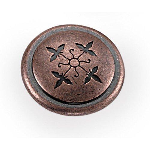 Laurey 53007 1 1/4-Inch Cimarron Knob, Antique Copper by Laurey - Antique Copper Knob