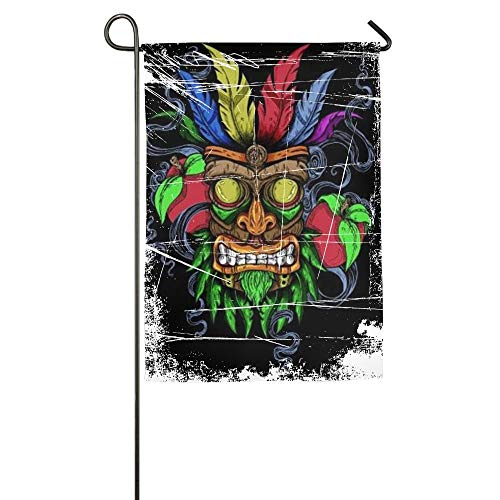 WEERQ Masks of The Demon Floral Garden Yard Banner for Outside House Flower- Best for Party Yard and Home Outdoor Decor