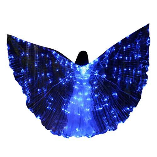 Dasongff LED Isis Flügel Tanz Kinder Schmetterling Performance Kleidung Karneval Halloween Mit Teleskopsticks Leistung Kostüm Engelsflügel spaß Darstellende Künste
