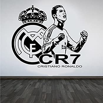 Cristiano ronaldo cr7 vinyl wall sticker real madrid fc for Cristiano ronaldo wall mural