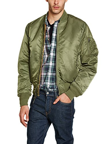 Alpha Industries Herren Bomberjacken Jacket MA-1, sage-green, XL