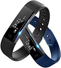 Shopline Latest Black Fitness Tracker Fitnessmust-3 with Heart Rate Monitor Lenovo Vibe X3 Compatible