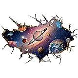 Winhappyhome Planet of The Universe Wall Art Adesivi per Bambini Camera da Letto Soggiorno TV Sfondo vivaio Rimovibile Decor Decalcomanie