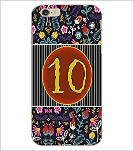 PrintDhaba Numerology Number 10 D-3097 Back Case Cover for APPLE IPHONE 6 (Multi-Coloured)