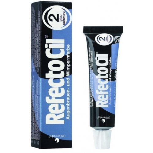 GWCosmetics Refectocil Augenbrauen und Wimpernfarbe, blauschwarz 2, 15 ml