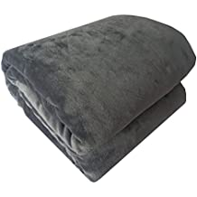 calientes suave de alta calidad franela–Manta/Manta//150x 200cm colores a elegir Bed poliéster manta, franela, gris, 150 x 200 cm