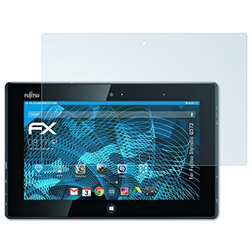 atFolix Schutzfolie kompatibel mit Fujitsu Stylistic Q572 Folie, ultraklare FX Bildschirmschutzfolie (2X)