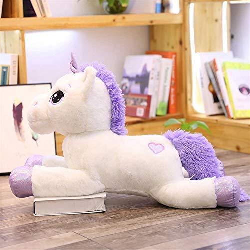 Almohada 60-110cm Tamaño del unicornio juguetes de peluche lindo del caballo blanco rosa suave relleno...